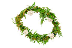 Willow branches wreath Stock Photo
