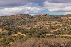 Willow City Loop 3. A scenic view along a portion of the Willow City Loop in the Texas Hill Country near Fredericksburg, Texas stock photo