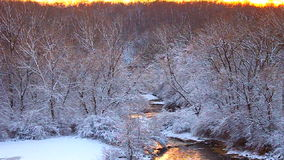 Willow Creek Winter Scene Illinois Royalty Free Stock Image