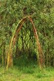 Willow door to small children house Stock Image