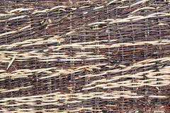Willow fence. Texture: a part of a fence Royalty Free Stock Photography