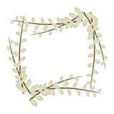 The willow frame Royalty Free Stock Photo