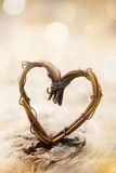 Willow heart Royalty Free Stock Photography