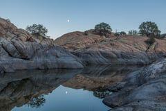Willow Lake Moonrise Stock Photography