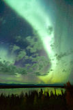 Willow Lake Northern Lights Aurora Borealis Alaska Night Sky Royalty Free Stock Image