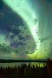 Willow Lake Northern Lights Aurora Borealis Alaska Night Sky Royalty Free Stock Image