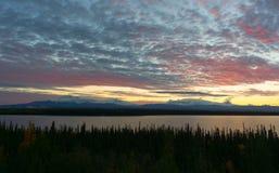 Willow Lake Southeast Alaska Wrangell St Elias National Park royaltyfri foto