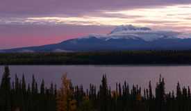 Willow Lake Southeast Alaska Wrangell St. Elias National Park Stock Photo