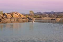 Willow Lake Sunset Royalty Free Stock Image