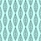 Willow leaves seamless vector pattern. Vintage style and colors (blue). Royalty Free Stock Photo