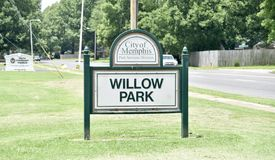 Willow Park, Bartlett, TN. Memphis Parks and recreation division mission is to provide a safe and wholesome environment with a variety of programs and services royalty free stock photo