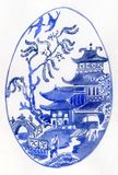 Willow Pattern Egg Royalty Free Stock Image
