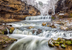 Willow River Falls After First Snow Stock Photos