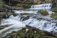 Willow River Waterfall Royalty-vrije Stock Foto