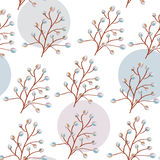 Willow seamless pattern Stock Photos