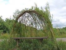 Willow Shelter. Stock Photos