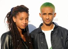 Willow Smith och Jaden Smith Royaltyfria Foton