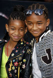 Willow Smith och Jaden Smith Arkivbilder