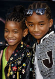 Willow Smith och Jaden Smith Royaltyfri Bild