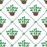 Elegant, damask insprired spring vector seamless pattern. royalty free illustration