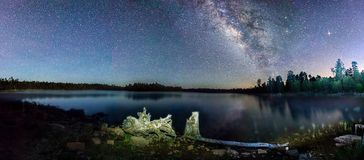 Willow Springs Lake. AZ is located just east of Payson.  The unusually dry air and no monsoon made for some spectacular night shots Royalty Free Stock Photos