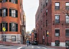 Willow Street en la vecindad de Beacon Hill en Boston céntrica mA fotografía de archivo