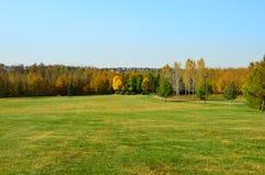 Willow Trail Park System roja, St Albert, Canadá occidental Fotos de archivo