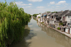 Willow Trees. On channel Suzhou China Stock Photography