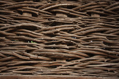 Willow wicker fence Royalty Free Stock Image