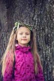 Willow wreath girl Stock Image