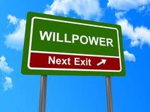 Willpoweren därefter går ut undertecknar Royaltyfria Foton