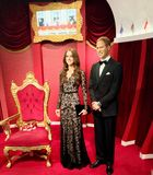 Wills and Kate waxwork duo stock photography