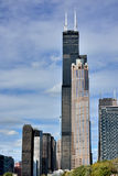 Wills Tower and city view of Chicago Royalty Free Stock Image