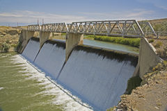 Willwood irrigation diversion dam. The Willwood Diversion Dam was built on the Shoshone River to divert irrigation water coming from Buffalo Bill Reservoir into royalty free stock photography