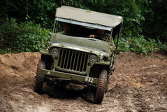 Willy jeep in mud Royalty Free Stock Images