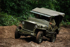 Willy jeep in mud Royalty Free Stock Photography