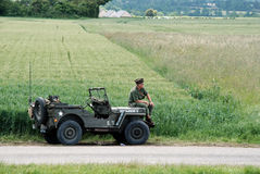 Willy jeep Normandy 2014. Anniversary D-Day royalty free stock photography