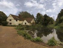 Willy Lott's Huis en Molen Flatford Stock Fotografie