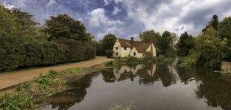 Willy Lott's Huis en Molen Flatford Stock Afbeeldingen
