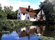 Willy Lotts Cottage, Flatford Royalty-vrije Stock Afbeelding