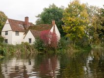 Willy lotts cottage in flatford mill during the autumn no people Royalty Free Stock Photography