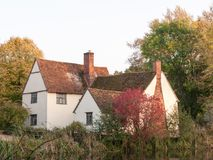 Willy lotts cottage at flatford mill in suffolk in autumn up clo Stock Photo