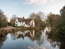 Willy lotts flatford mill cottage constable country haywain pain Stock Photo