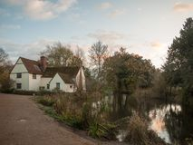 Willy lotts flatford mill cottage constable country haywain pain Stock Images