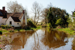 Willy lottshus, flatford, suffolk, u K Royaltyfri Fotografi