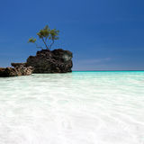 Willy's rock in Boracay, Philippines Stock Image