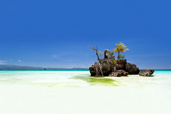 Willy's rock in Boracay, Philippines Stock Images