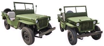 Willys ΜΒ - οδικό όχημα ΑΜΕΡΙΚΑΝΙΚΟΎ στρατού Στοκ Φωτογραφία