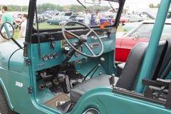 1965 Willys dżipa wnętrze Obrazy Stock