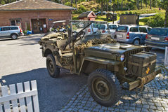 Willys jeep 1945, with machine guns Stock Photos
